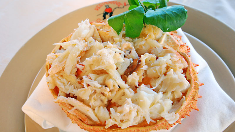 Stuffed Spider Crab or au Gratin
