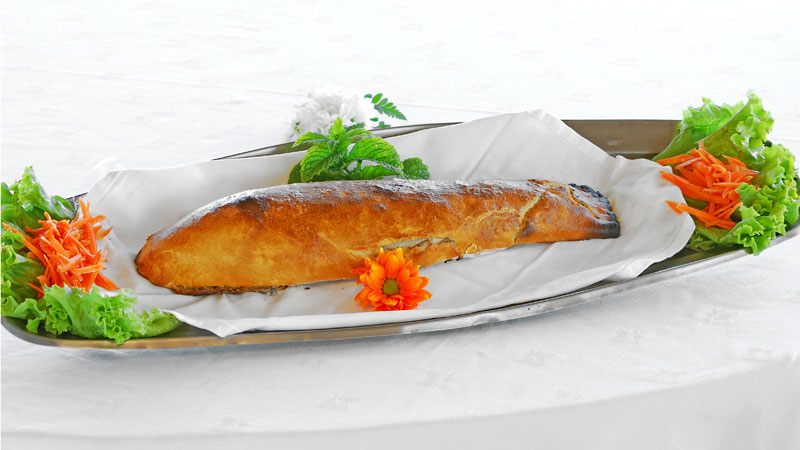 Fish In Crusted Bread - Sea Bass or Gilt-head Bream